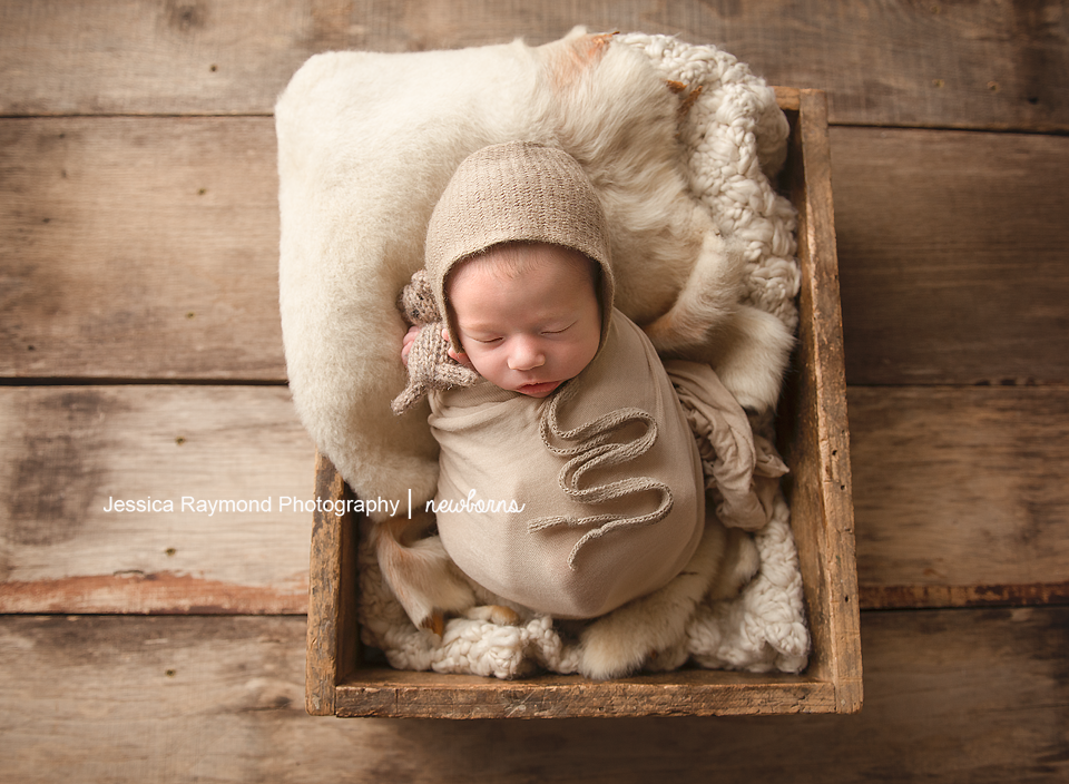 infant photography san marcos california baby pictures in wooden box