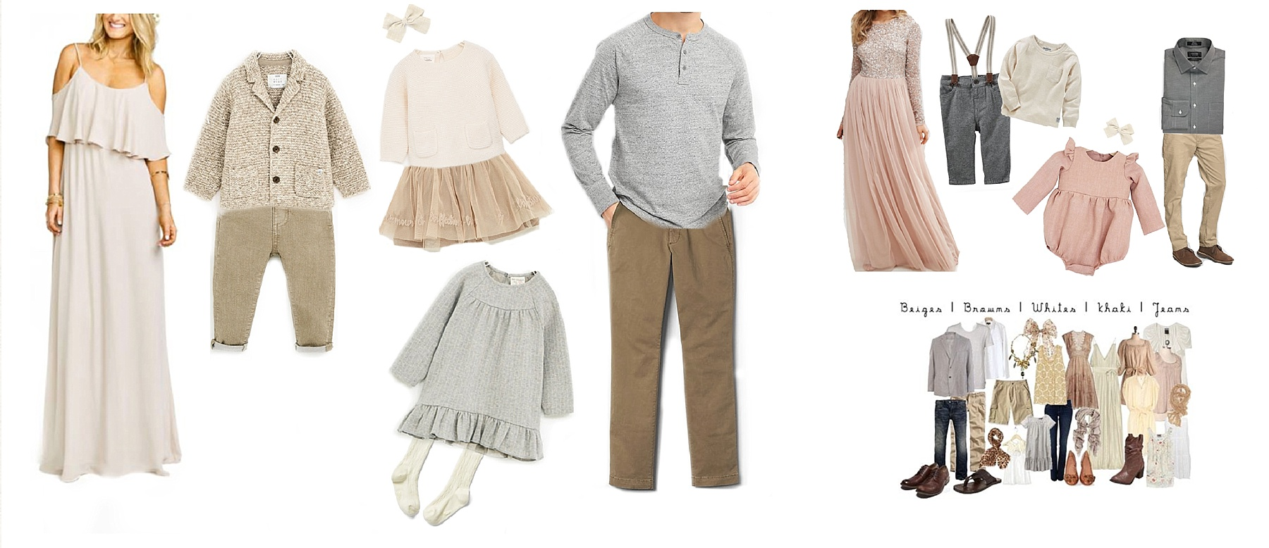 what to wear for family photos spring summer outfit ideas