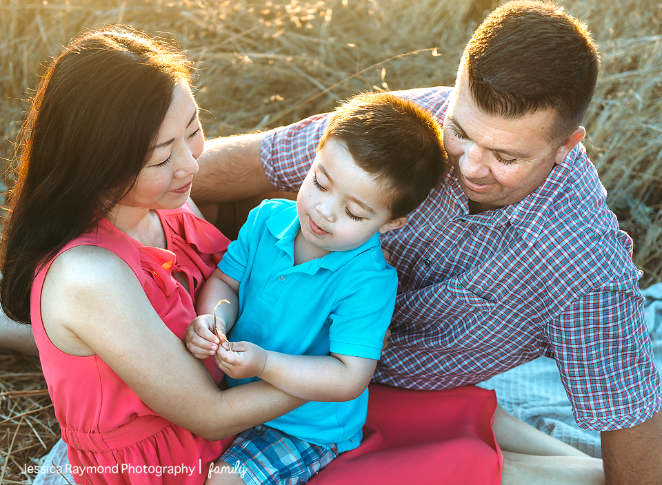 family photography session family portraits family of three on blanket