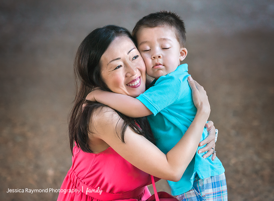 family photography session family portraits mom and son hugging