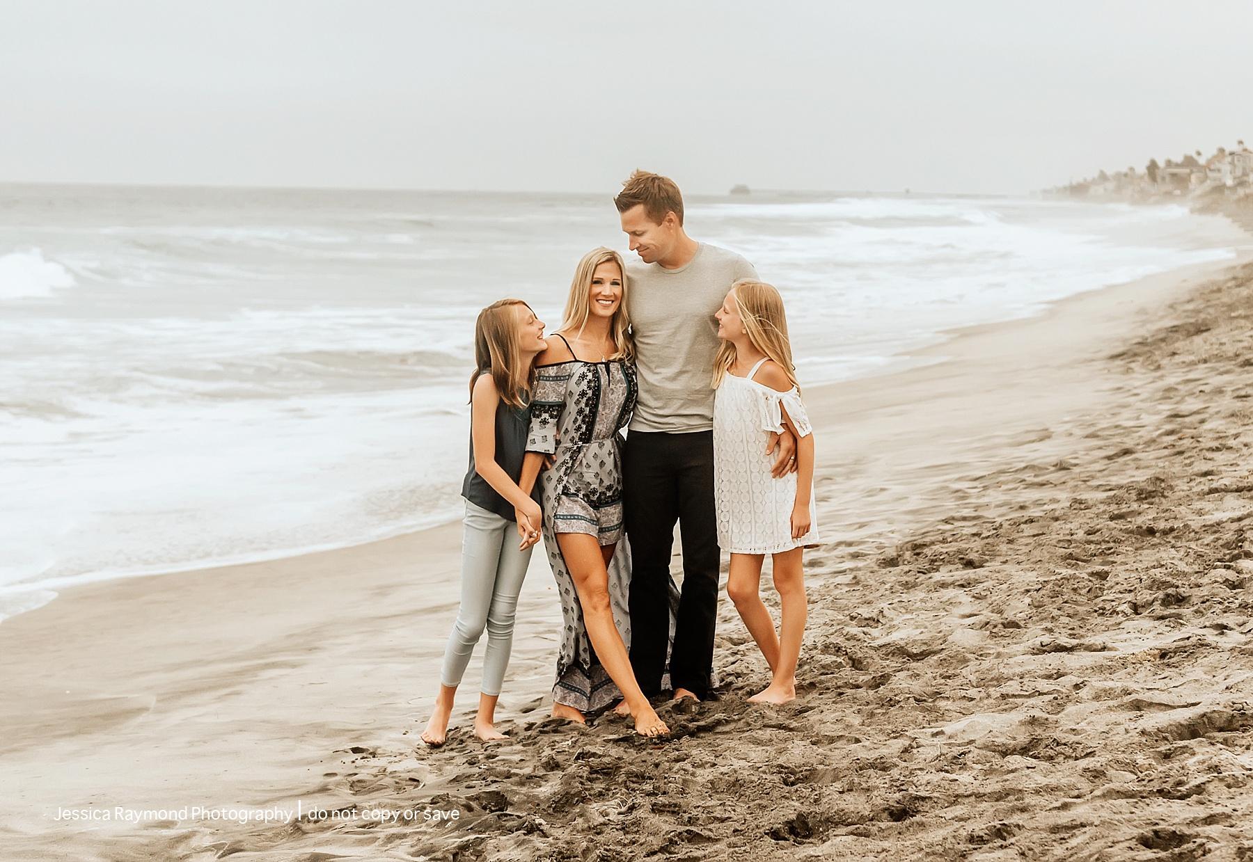 carlsbad beach family photos family of four on beach