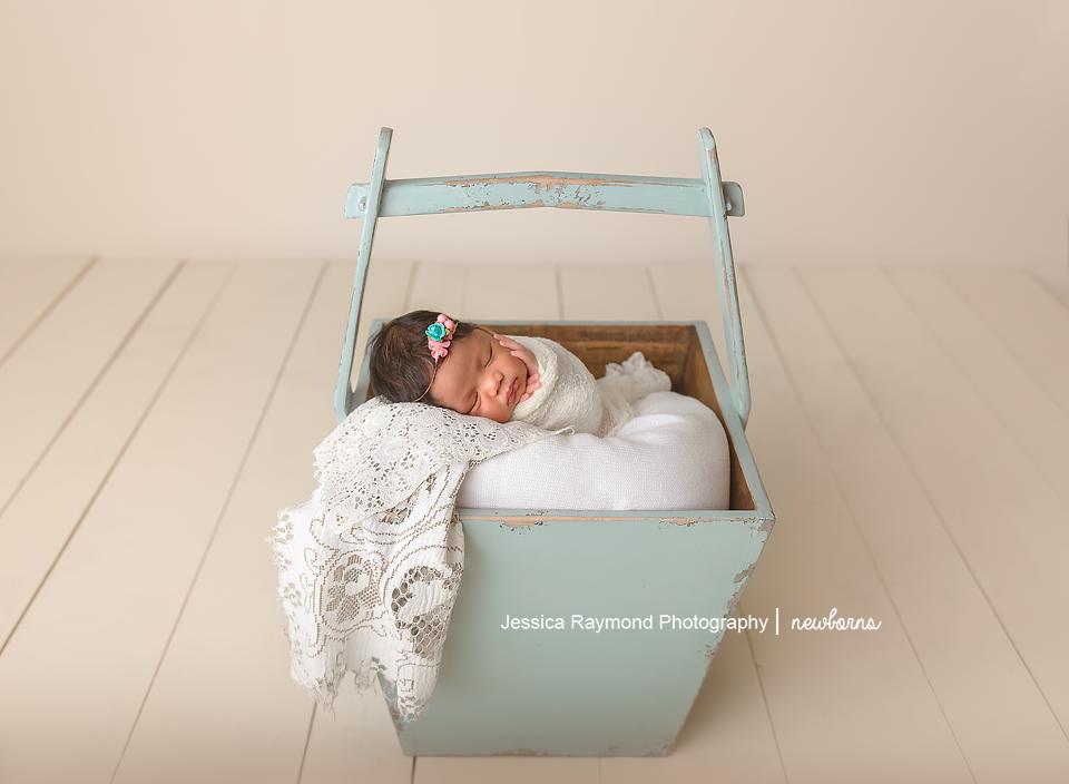 san diego baby photography newborn baby photographer baby in blue bucket
