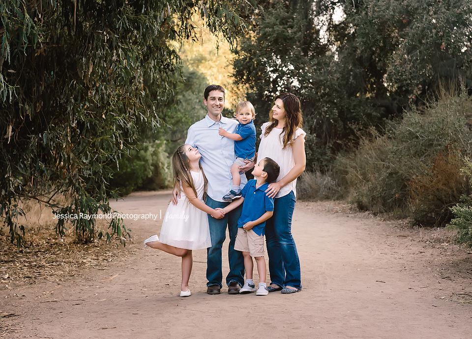 escondido family photographer family photos escondido photography family of 5 pose