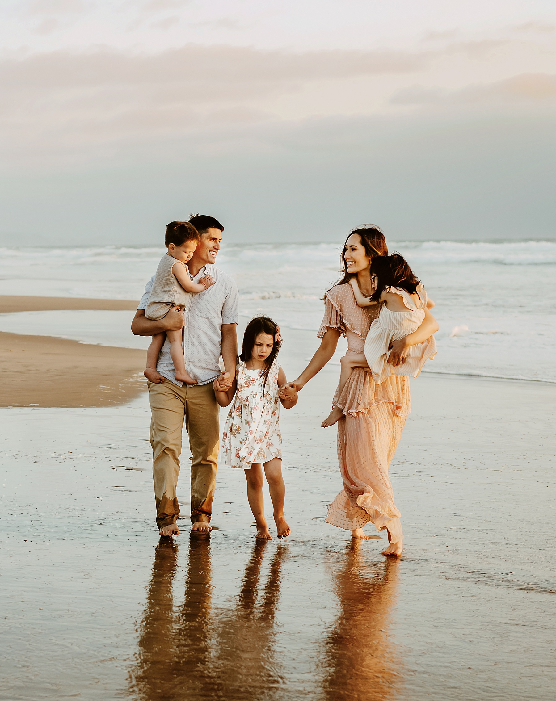 sunset family pictures del mar beach