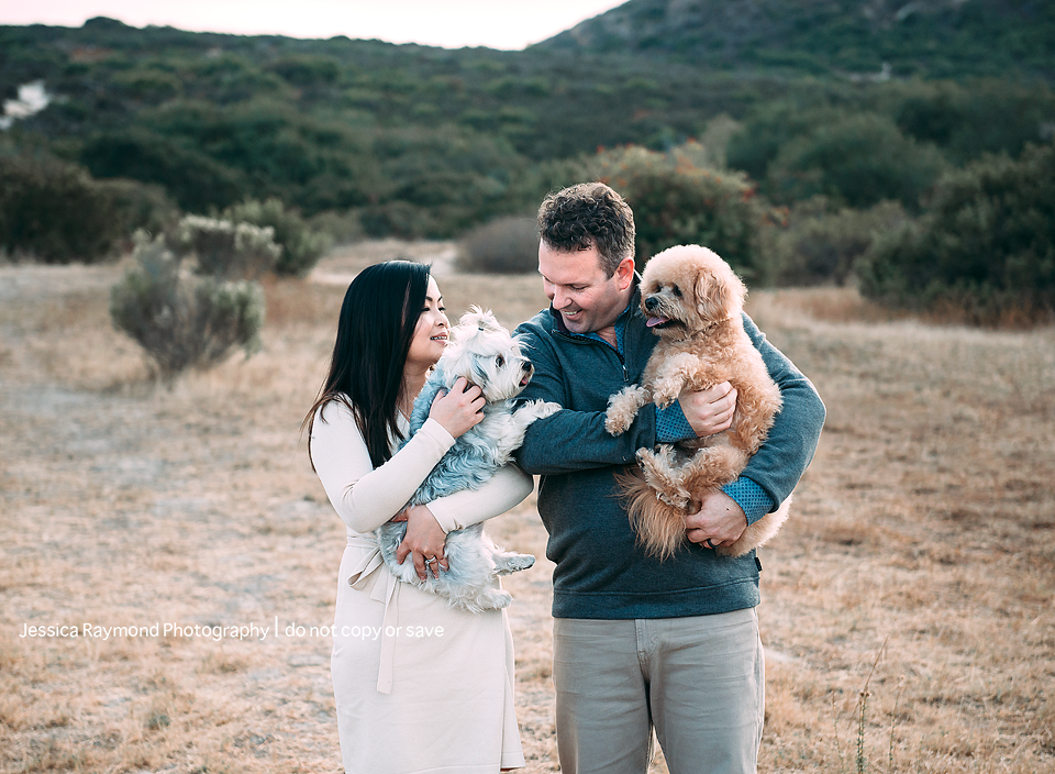 couples photography san diego couples photographer couple holding dogs