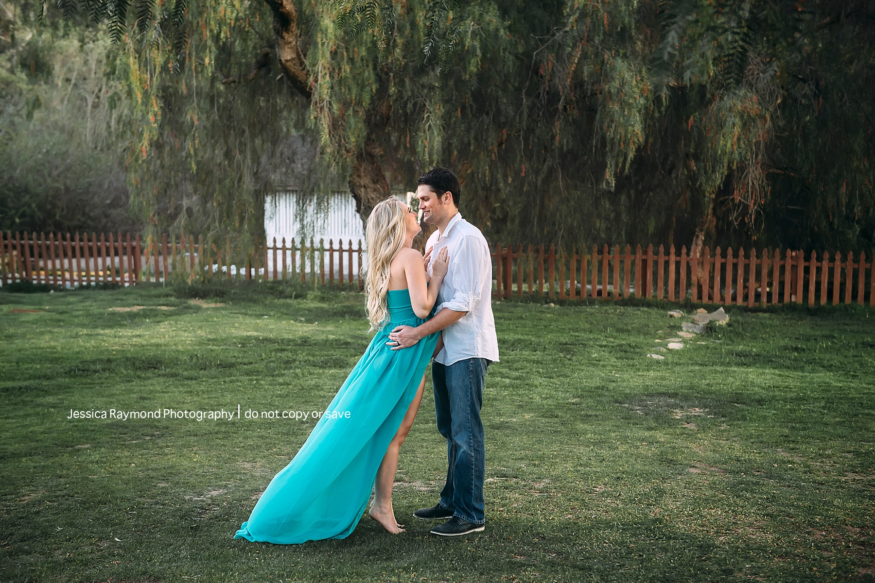 rancho penasquitos maternity session blue maternity gown