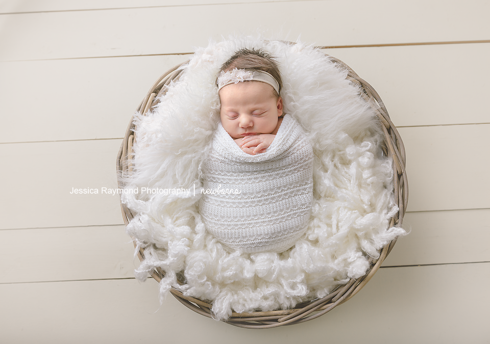 newborn photography pictures baby girl in basket