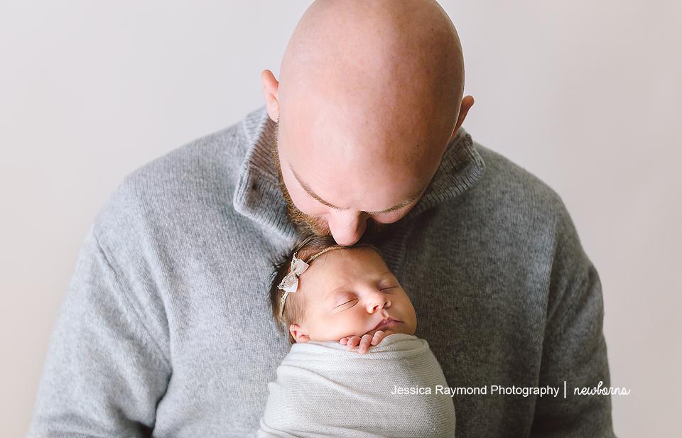 newborn photography san diego dad newborn pose