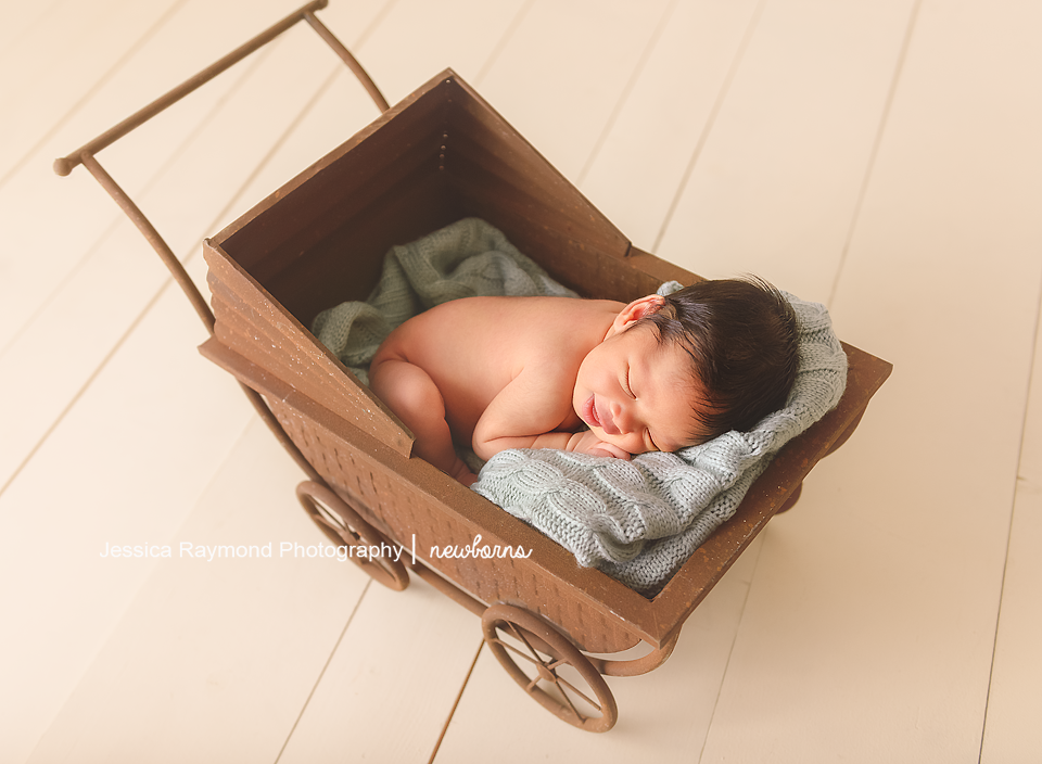 san diego infant photographer photography baby in carriage
