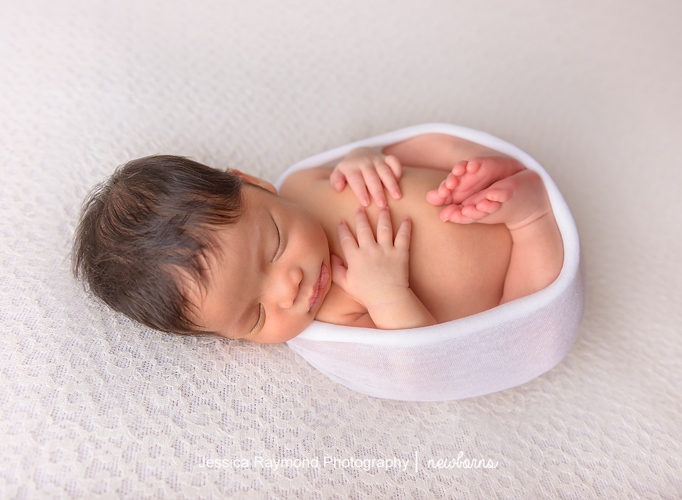 san diego baby photography newborn session baby on beanbag
