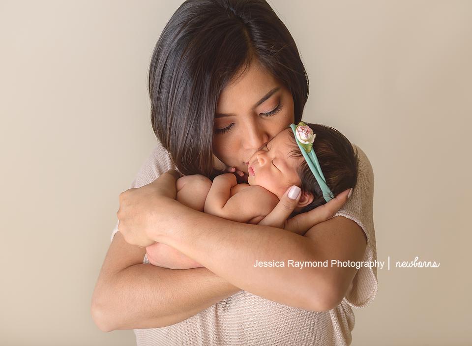 san diego baby photography newborn baby photographer mom pose