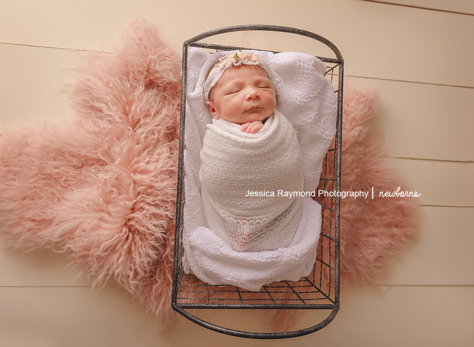carlsbad baby photographer newborn family session newborn photo shoot baby girl wrapped in basket