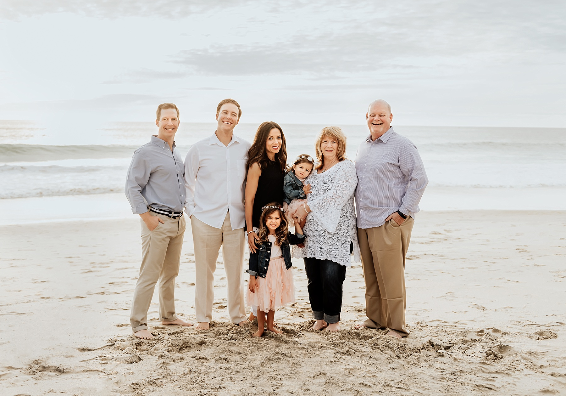 carlsbad family beach pictures extended family