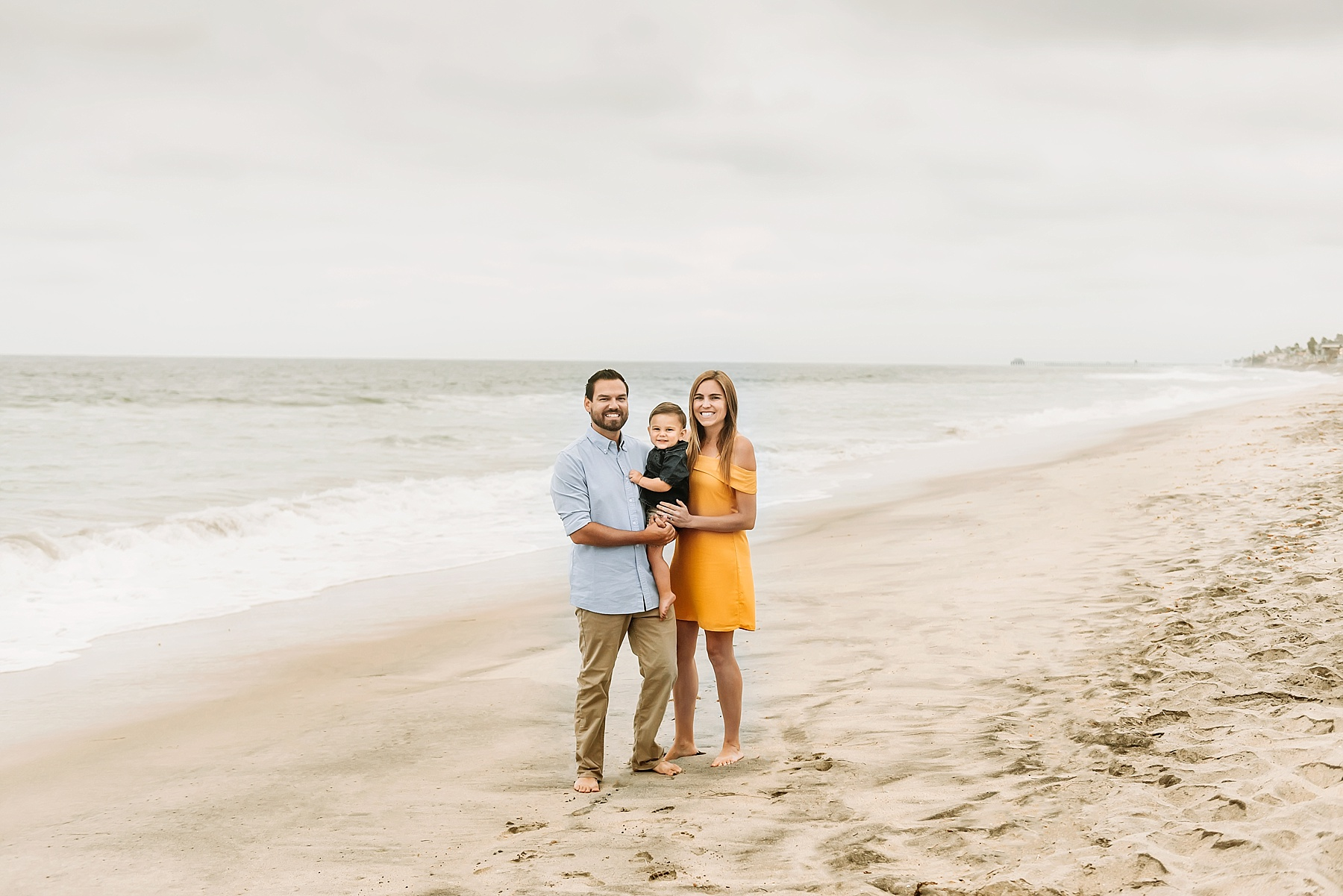 family portraits carlsbad family of three beach pictures
