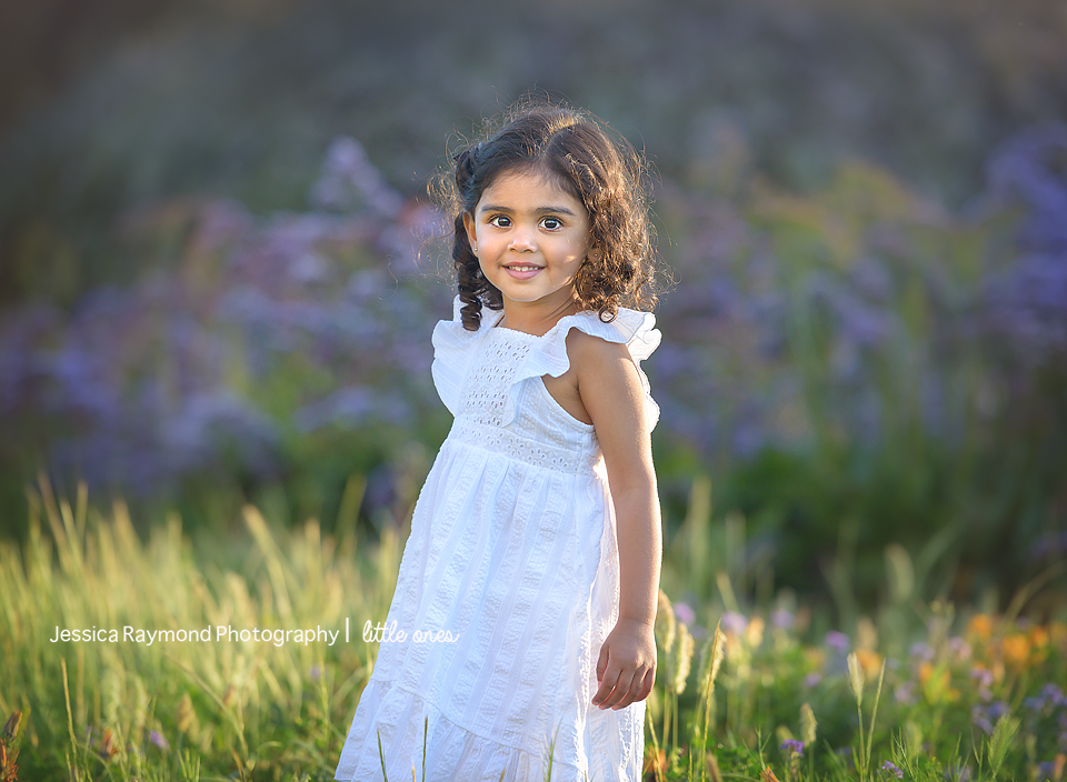 Child Photography Session Carlsbad Children's Photography Spring Portraits Girl Smiling In Flowers