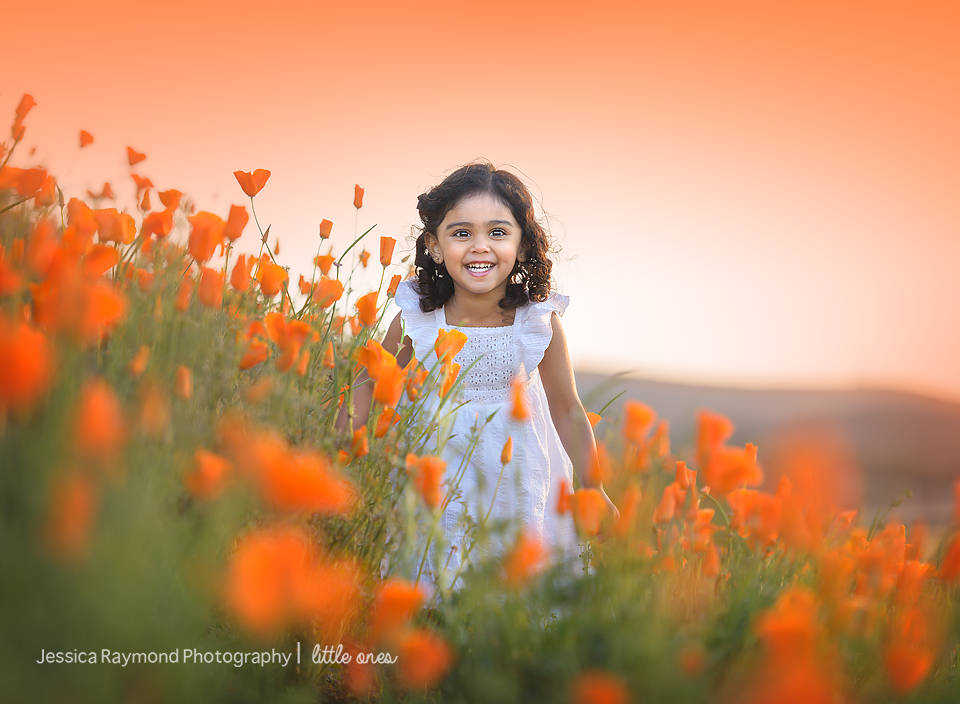 Child Photography Session Carlsbad Children's Photography Spring Portraits Girl In Poppy Field