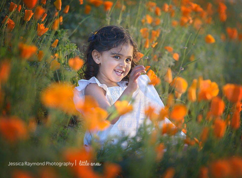 Child Photography Session photography session Spring Portraits Girl Sitting In Flowers