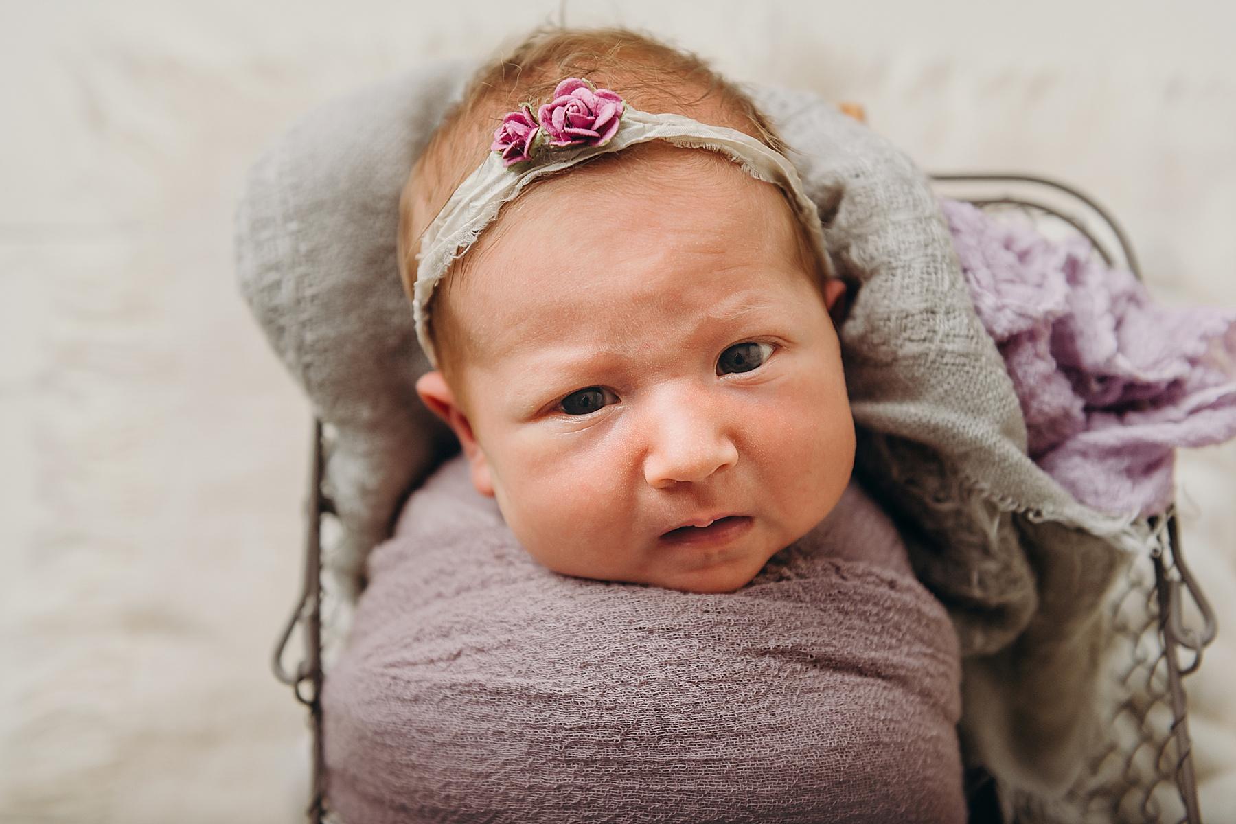 studio newborn baby girl