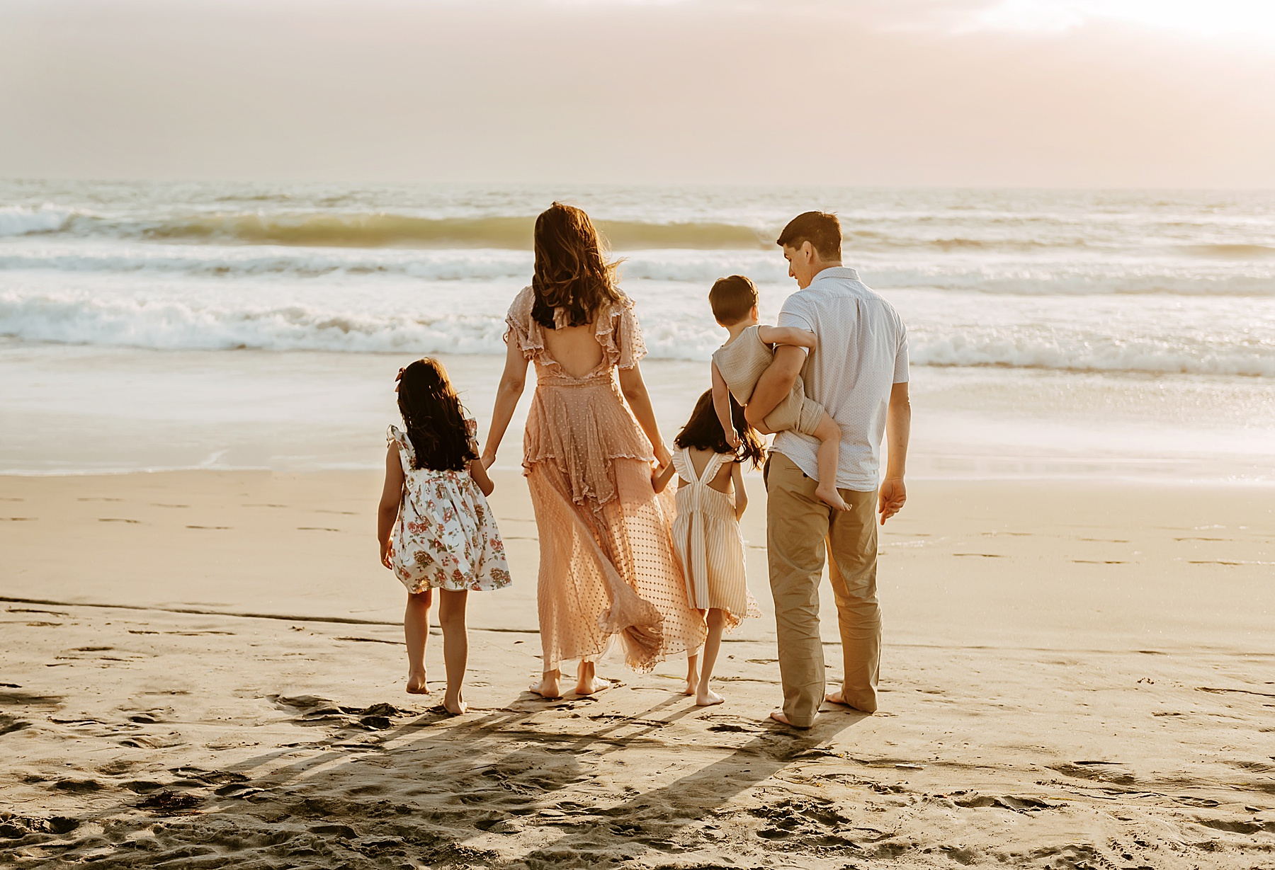 sunset family pictures del mar beach family of 5